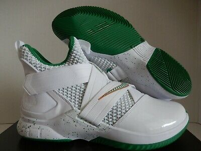 half off f2c84 cec50 NIKE LEBRON SOLDIER XII 12 SVSM Home White Green Gold AO2609 ...
