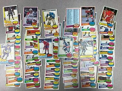 1980-81 OPC Hockey Lot, 75 Cards with Stars