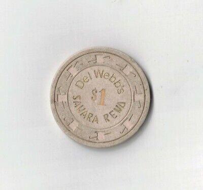 Del Webb's Sahara Reno-$1.00-Casino Chip-One 1/2 Inches Width-Vintage