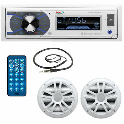 Stereo Boss Marine MR632UAB - MRANT10 + MR6W -telecomando - USB - SD - BLUETOOTH