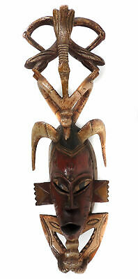 Guro Mask Horned Bird Motif African Art