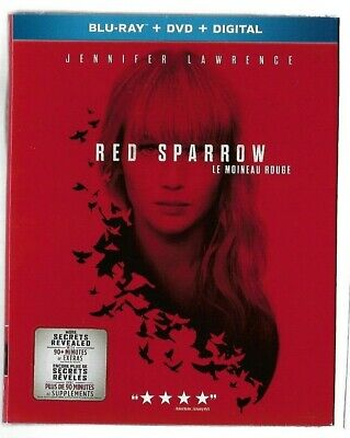 New Sealed Blu-Ray - DVD - Digital - RED SPARROW - Jennifer Lawre   Also French