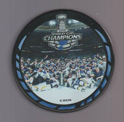 St Louis Blues 2019 Team Picture Stanley Cup Champions Playoff Hockey Puck