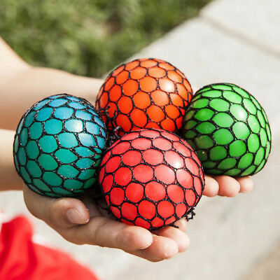 Squishy Mesh Ball Fidget Stress Toys Squishes Kids Fun Play Squeezy Gripper HOT