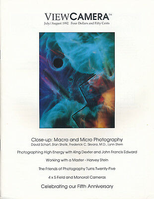 View Camera Magazine July/August, 1992 Macro Large Format Microscope Photography