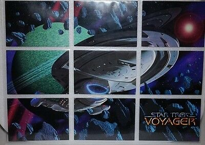 STAR TREK Voyager .SKYBOX 1 to 9 USS Voyager in all its glory Cards 1995