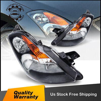 for 2007-2009 Nissan Altima Black Headlight Headlamp Assembly Replacement Pair