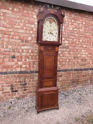 Antique Longcase Grandfather Clock. Heath Newcastle. Keeps good time! NO RESERVE