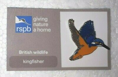 RSPB GNAH FLYING KINGFISHER charity pin badge COMBINE P+P