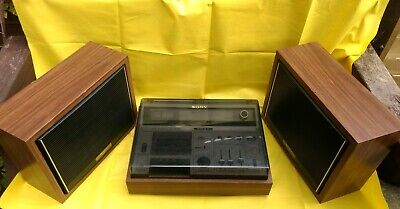 VINTAGE SONY CF-620 Stereo Radio / Cassette-Corder with Speakers
