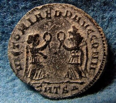 Constantius II. AD 337-361. Æ Two Victories type. Ancient Roman coin