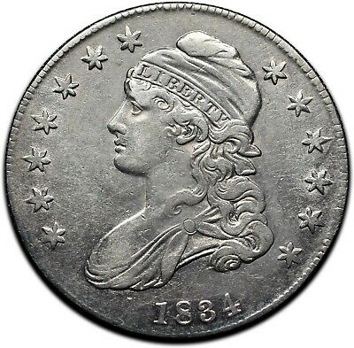 1834 Capped Bust Silver Half Dollar 50¢ Coin Lot# A 379