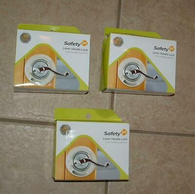 NEW NIB Safety 1st Lever Handle Lock One Hand Operation Baby Proof Lot of 3