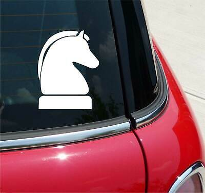 Chess Icon Champion Knight Piece Silhouette Shadow Car Tablet Vinyl Decal