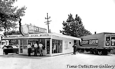 Wisconsin's First Dairy Queen at Lake Nebagamon - Vintage Photo Print