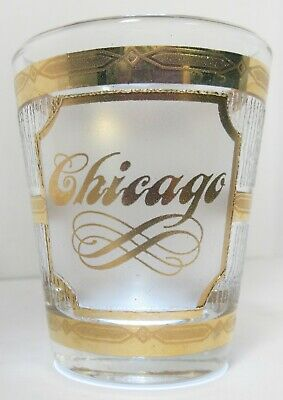 Culver 22k Gold Shot Glass Chicago Vintage