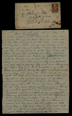 14th Pennsylvania Cavalry CIVIL WAR LETTER - Great Content Beverly West Virginia