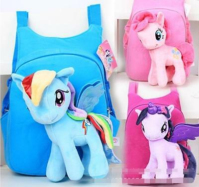 Cartoon Kids Bag Backpack Free P&P My Little Pony Toys Schoolbag Doll Gifts Hot