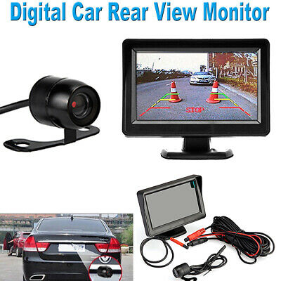 "4.3"" LCD Monitor + 1 x Rear View Reversing Camera Kits For Car Bus Truck UK CHJ"