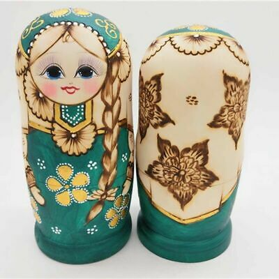 7X Wooden Lovely Girl Matryoshka Hand Painted Russian Toy Nesting Dolls Kid Gift