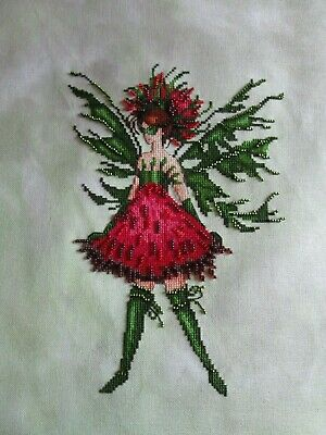 "Nora Corbett ""Thistle"" Poison Pixie Collection Completed Unframed Cross Stitch"