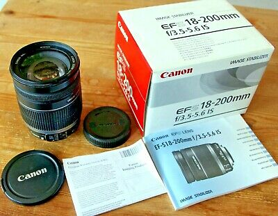 CANON EFS 18-200mm f/3.5-5.6 IS