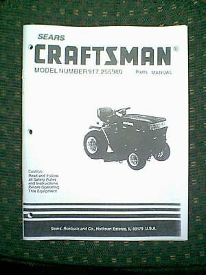 SEARS CRAFTSMAN RIDING GT6000 Lawn Garden Tractor Owner