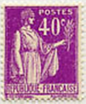 "FRANCE STAMP TIMBRE YVERT N° 281 "" TYPE PAIX 40 C LILAS "" NEUF x TB"