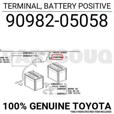 Toyota 90982-05051 Battery Positive Terminal