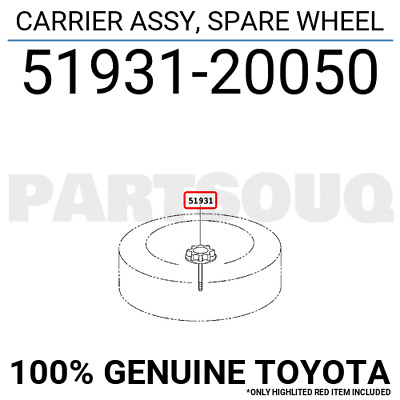 Toyota 51931-47020 Spare Wheel Carrier Assembly
