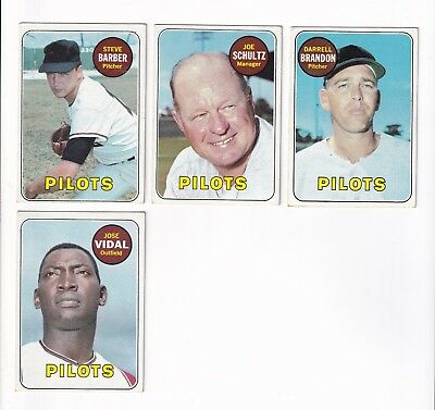 1969 Topps SEATTLE PILOTS PICK LOT-YOU Pick any 1 of the 3 cards for $1!