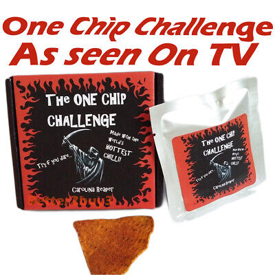 One Chip Challenge chilli! Carolina Reaper c1