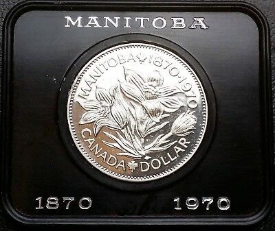 1970 Manitoba Canada Proof-Like $1 Dollar - Free Combined Shipping