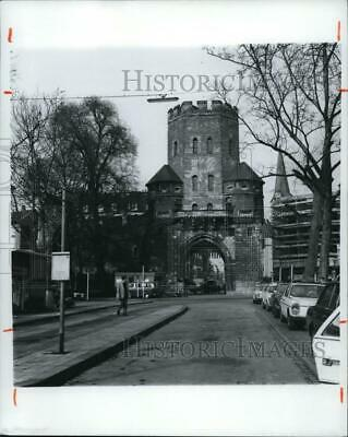 1974 Press Photo St. Severin's Tower, Cologne, Germany from early 13th century.