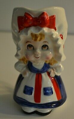Lefton, Betsy Ross, Adorable Girl, Pitcher, Red/White/Blue, Great Color, 1957