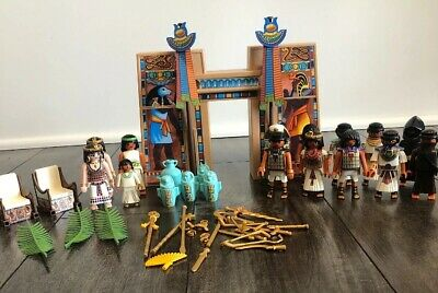 Mixed Lot of Egyptian Playmobile Pharaoh Weapons Tomb Robbers 14 Figures