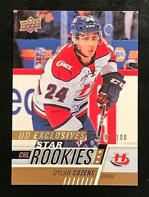 2017-18 UD Upper Deck CHL Exclusives #331 Dylan Cozens Buffalo Sabres #'d /100