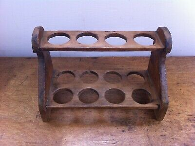 LOVELY DECORATIVE ANTIQUE WOODEN EGG RACK 9 inches