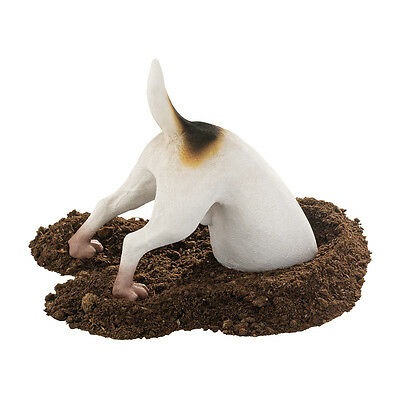 Terrier Bone Digging Dog Canine Garden Sculpture Statue