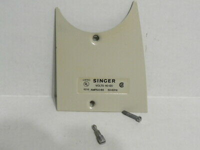 VTG SINGER Stylist Model 533 Parts- Arm End Cover Plate, Fixing Stud & screw