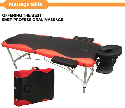 2 Folding Portable Massage Table Facial SPA Bed Tattoo w/Carry Case Aluminum Bed