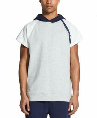 DKNY NEW Heather Gray Navy Mens Size Large L Short-Sleeve Hoodie $69 379