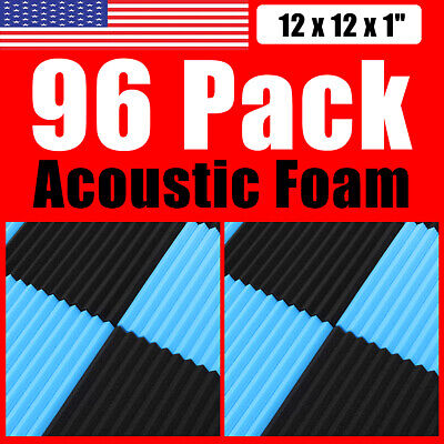 """96Pack Acoustic Foam Wall Panels Soundproofing Wedge Wall Tiles 12''x12''x1"""""""