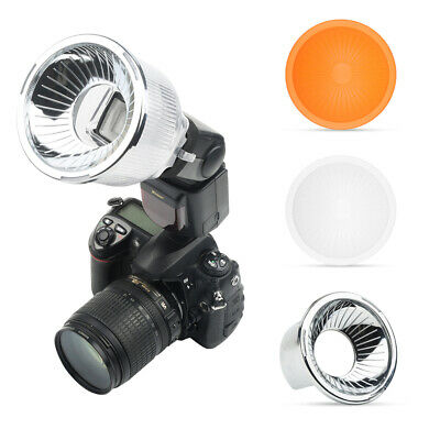 Universal On-Camera Speedlight Flash Light Diffuser Light Sphere with Domes