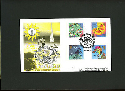2000 Weather Exmouth Stamp Club Official FDC 1 of 97 covers