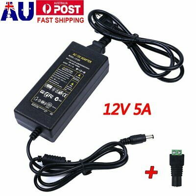 12V 5A 60W DC POWER Supply AC Wall ADAPTER 5AMP Transformer LED Strip Light CCTV