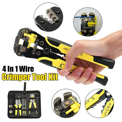 4 in 1 Cable Connectors Terminal Ratchet Crimping Tool Wire Cable Crimper Pliers