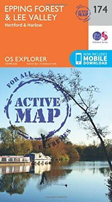 Epping Forest & Lee Valley (OS Explorer Active Map) New Map Book Ordnance Survey