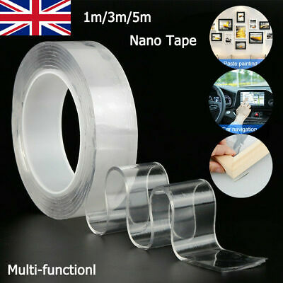 Nano Magic Tape Double-Sided Washable Adhesive Invisible Gel Anti-Slip HOT