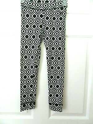 Justice Girls Black/White Leggings/Pants Size 10--Year Round Wear-